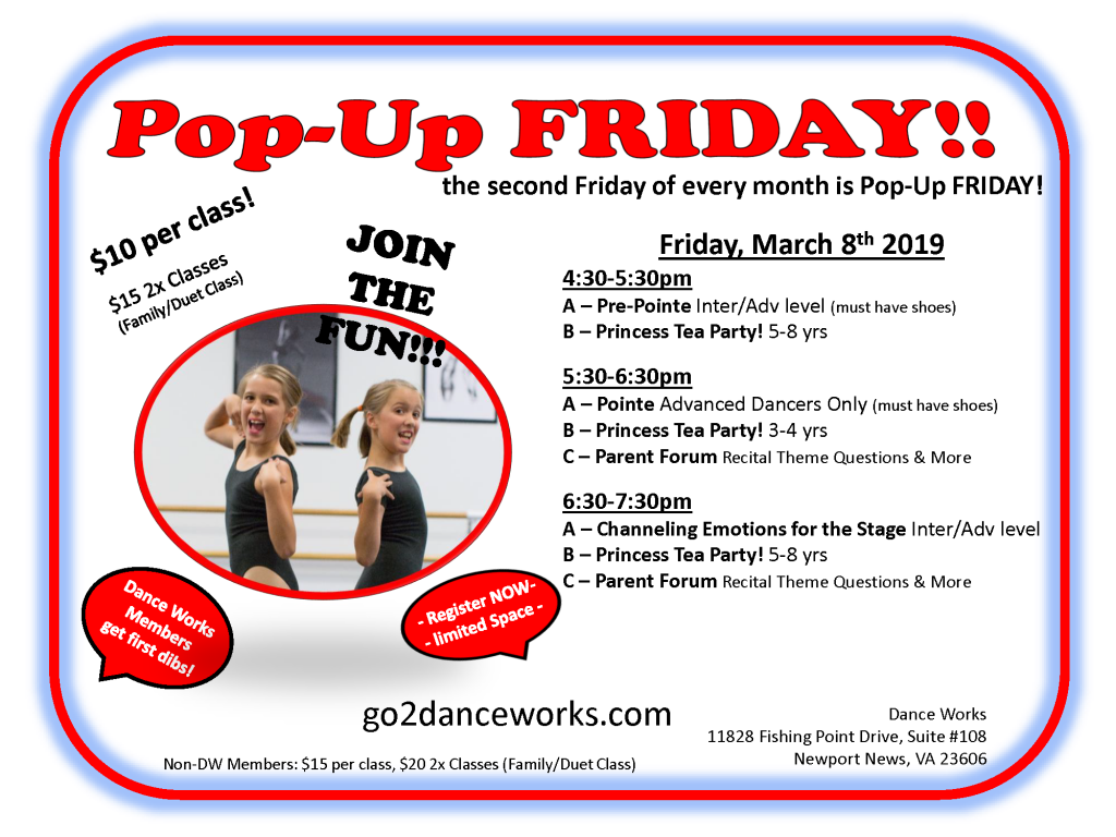 pop up class march
