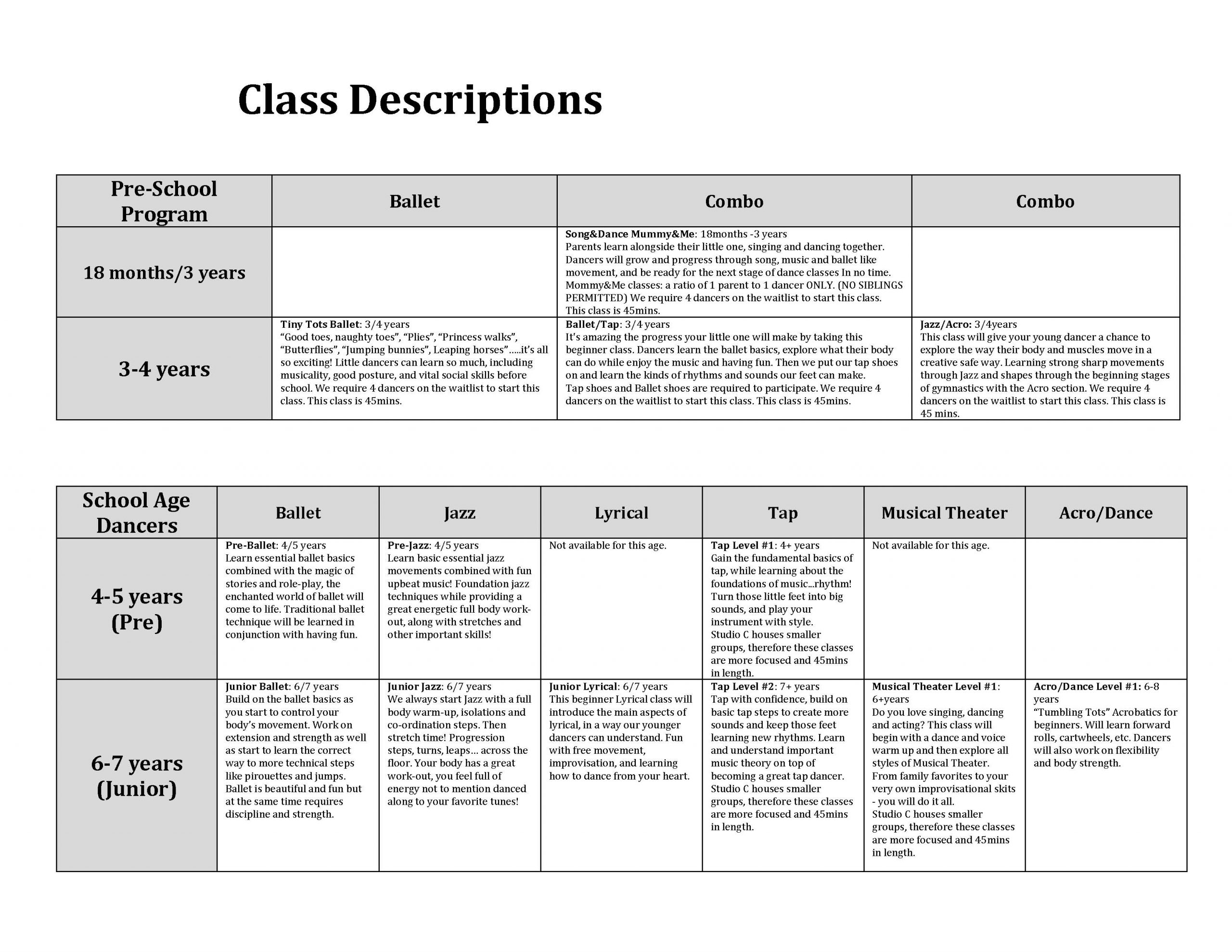 Dance Works 2020-2021 New Class Descriptions 3